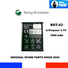 BATTERIE ORIGINALE OEM SONY ERICSSON BST-43 BST 43 1000mAh GENUINE BATTERY 3,7V