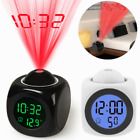 Alarm Clock LED Wall/Ceiling Projection and Temperature Display Talking Function