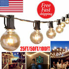 Kyпить 25/50/100FT Waterproof G40 Globe Bulbs Patio Hanging String Lights Outdoor Light на еВаy.соm
