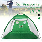 3M Golf Practice Driving Hit Net Cage Training Mat Aid Driver Irons + Free Bag