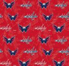 """NHL Washington Capitals Cotton Fabric by the 1/4,1/2,Yard, 44""""W for Face Mask $12.99 USD on eBay"""