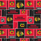"NHL Chicago Blackhawks Cotton Fabric by the 1/4,1/2,Yard, 44""W for Face Mask $18.29 USD on eBay"