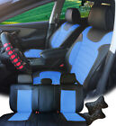 PU Leather Car 5 Seats Covers Cushion 9 Pieces Front & Rear Dodge 88255 Bk/BL $82.0 USD on eBay