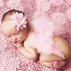 Pink Cute Angel Baby Feather Newborn Prop Wings Costume Headband Set Photography