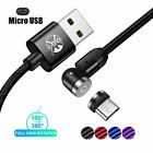 2020 Fast Magnetic USB Cable Charger LED For Micro Type C iphone X XR Samsung S9