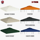3x3m Gazebo Cover Outdoor Garden Canopy Top Cover Replacement 6 Color 2-Tier New