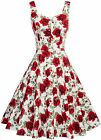 Belle Poque Homecoming 1950s Retro Vintage Sleeveless V-Neck Flared A-Line Dress