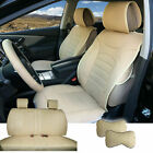 Tan PU Leather Full 5 Seats Cushion Front Rear to Dodge 80209 $111.13 CAD on eBay