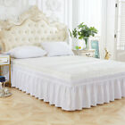 Three Sides Home Decoration Hotel Twin Queen Elastic Ruffles Bed Skirt Easy Fit
