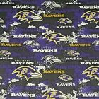 """NFL Baltimore Ravens Distressed Cotton Fabric by the 1/4,1/2,Yard, 44""""W for Mask $9.95 USD on eBay"""