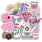 50/52/60pcs Cute Pink Girl Series Wall Stickers Waterproof For Laptop Suitcase