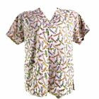 Dagacci Colorful Skateboards Pale Pink Medium Scrub Top