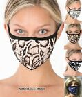 Leopard Cheetah Animal Print Zebra Snake Face Mask Ultra Soft Cotton Black White