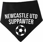 Spoilt Rotten Pets Black Newcastle Football Suppawter The Magpies Dog Scarf Band