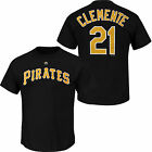 Roberto Clemente #21 Pittsburgh Pirates Majestic Men's Name & Number T-Shirt on Ebay