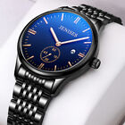BELUSHI Men's Date Stainless Steel Waterproof Quartz Dress Analog Luminous Watch image
