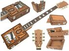 Handcrafted Mahogany 6 String Engraved Opening Body Electric Cigar Box Guitar