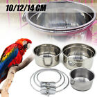 Pet Bird Parrot Feeder Parrot Stainless Steel Cup Food Water Bowl Bird Cage Cup
