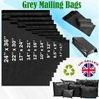 GREY MAILING BAGS ALL SIZES STRONG POLY POSTAGE POSTAL ALL QUANTITY SELF SEAL UK