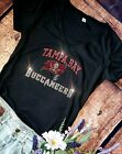 Womens Rhinestone New Tampa Bay Buccaneers Low Cut V-Neck Fitted T-shirt Tee $24.99 USD on eBay