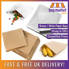 Brown / White Strung Paper Bags! | Food Use/Sandwich/Takeaway/Grocery/Fruit/Veg