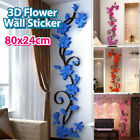 Diy 3d Flower Wall Sticker Removable Vinyl Quote Decal Mural Home Room Decor Art