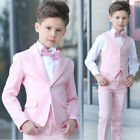Pink Prom Suits For Boys Wedding Suits Slim Fit Kids Formal Wear Tuxedo Blazer..