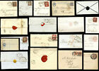 SCOTLAND INVERNESS QV ENVELOPES WRAPPERS POSTMARKS 1d REDS etc ...EACH PRICED