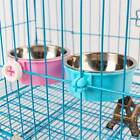 Removable Pet Hanging Cage Stainless Steel Feeding Water Bowl For Dog Cat Rabbit