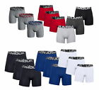 "Under Armour Mens Charged Cotton 6"" Boxer Jock Boxer Briefs Underwear 3 PACK"