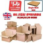 Cardboard Boxes - Single Wall Packing Box Storage Removals Mail Post Box Cartons