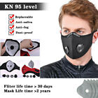 Reusable Face Mask With Breathable Valve Activated Carbon Mouth Covers Filterpad