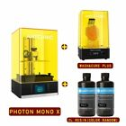 UK Anycubic LCD PHOTON S 3D Printer Resin UV Light-Cure + Wash& Cure Machine 2.0