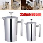 12/27Oz Insulated French Press Coffee Maker Stainless Steel Dual Wall Pour USA