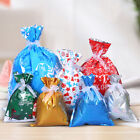 5Pcs Christmas Decor Candy Gifts Storage Container Drawstring Lucky Pouch Bag Ea