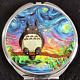 My Neighbor Totoro Van Gogh Ghibli Animation Disney Makeup Compact Double Mirror