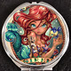 Ariel Little Mermaid Princess Tattoo Pinup Disney Makeup Compact Double Mirror
