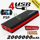 General 2000000mAh PowerBank 2USB External Battery Pack Portable Fast Charger US