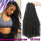 18Inches Passion Twist Crochet Hair Braids 9 Colors Water Wave Hair Extensions