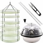 iPower 19'' Leaf Bowl Trimmer Twisted Spin Cut & Hanging Herb Drying Rack Net