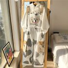 Japanese women loose kawaii cow print overalls wide leg casual Jumpsuit overalls