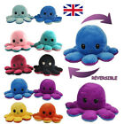 Reversible Octopus Plush Toys Double-sided Flip Octopus Happy Sad Doll Kids Gift