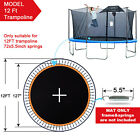 12ft/ 14ft/ 15ft Trampoline Mat Jumping Surface with72/96 V-Rings 5.5/6.5 Spring