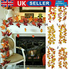 Halloween Artificial Autumn Fall Maple Leaves Garland Hanging Plant Home Decor