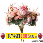 21 Heads Artificial Silk Small Flower Rose Bunch Wedding Home Outdoor Decor -at