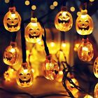 10LED Halloween Pumpkin Spider Bat Skull String Lights Lamp DIY Hanging Horror