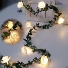Rose Flower Led Fairy String Lights Battery Powered Wedding Valentine's Day r