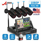 """Home Wireless Security 1080P CCTV Camera System Outdoor With 7""""Monitor NVR 1TB"""