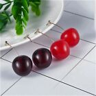 Vintage Retro St. Novelty 3d Real Size Cherry Drop Earrings Gift Dress Accessory