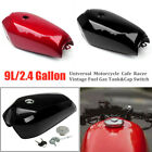 9L/2.4Gal Universal Motorcycle Cafe Racer Vintage Fuel Gas Tank & Cap Switch Set